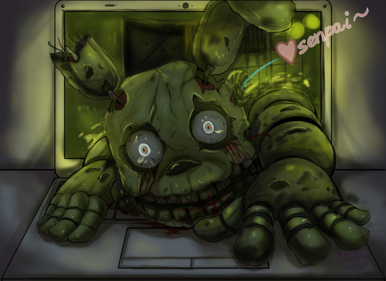 Gravity Falls Wallpaper Not Even The Computer Screen Will Stop Springtrap From