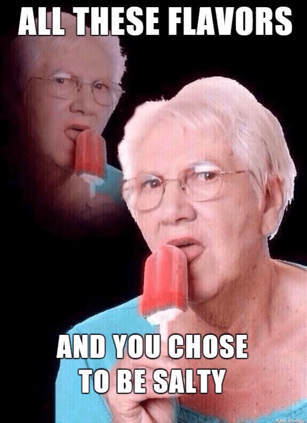 Image result for salty meme