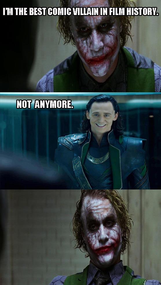 Joker vs Loki  Dark Knight 4 Pane  Know Your Meme