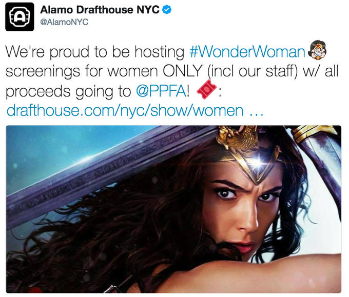 Image result for women only wonder woman screening