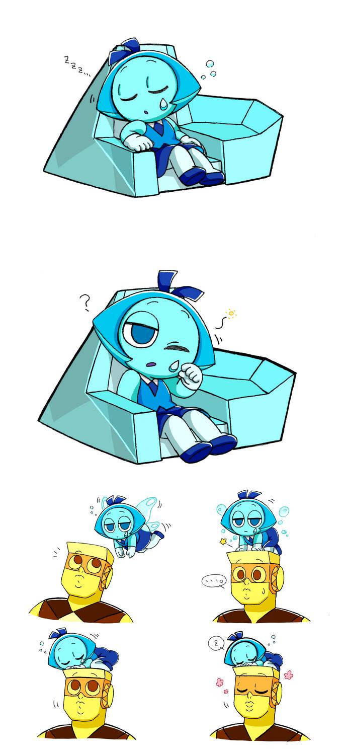 Cute Garnet Wallpaper Half Asleep Aquamarine And Topaz Comic Steven Universe
