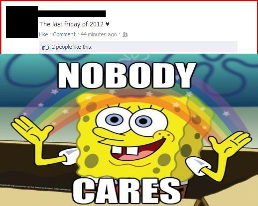 Spongebob Squarepants No One Cares