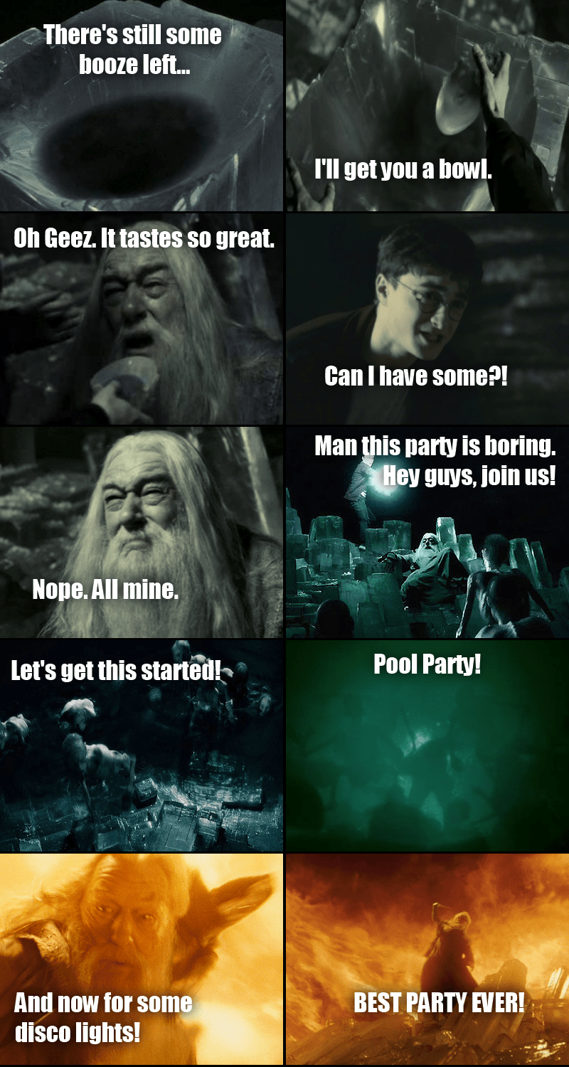 Aint No Party Like A Dumbledore Party Part 1 Harry