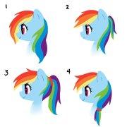 older rainbow dash hair styles