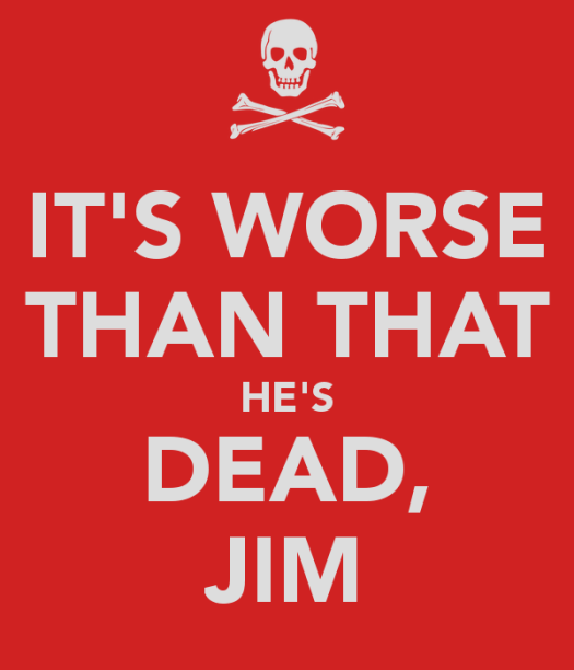 Image result for hes dead jim