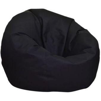 Compra Puff Redondo Negro Lona Impermeable Dormipuff