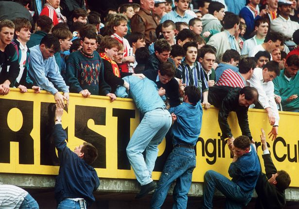 Fans escape the crush at Hillsborough