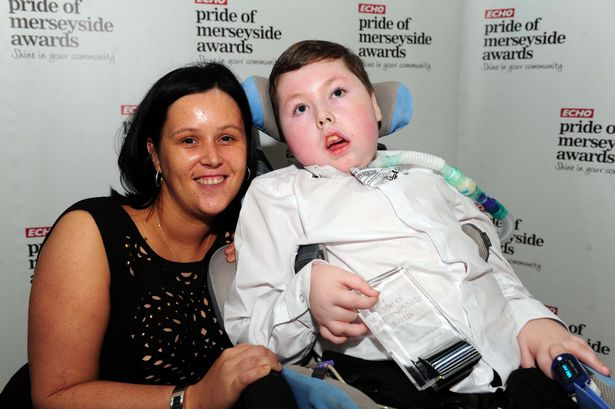 Conor Durkin-O'Brien, together with his proud mum, Julieanne
