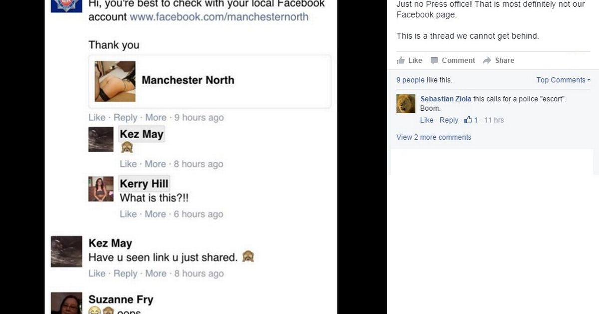 Police accidentally post link to escort service on GMP
