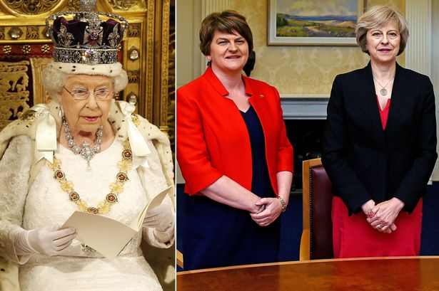 Risultati immagini per Now even the crackpots won't work with Theresa May - as DUP talks in chaos