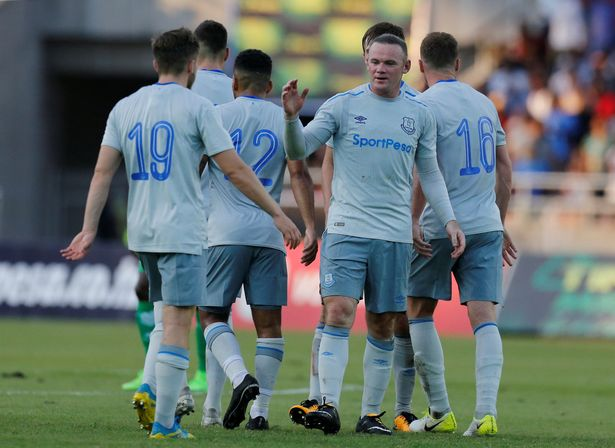 """Wayne Rooney durante la sua """"prima"""" presenza stagionale in maglia Everton, foto: Reuters"""