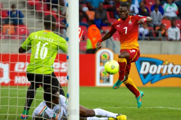National treasure: Atsu on Ghana duty at this year's Africa Cup of Nations
