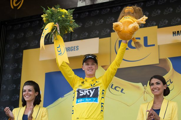 The time is right: Wednesday's stage win edged Froome closer to overall victory