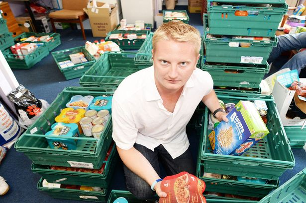Reporter Ben Glaze lends a helping hand at Oldham Foodbank