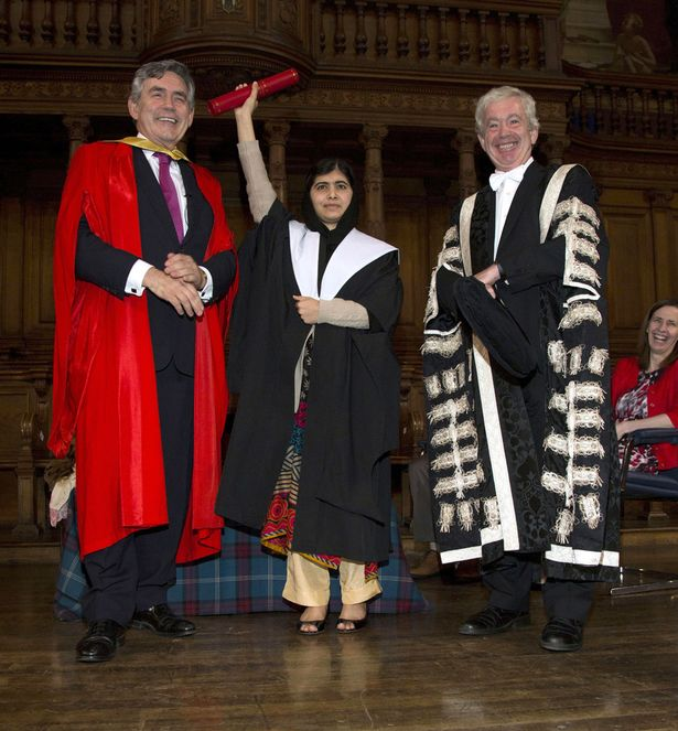 Malala Yousafzai receives an Honorary degree from Edinburgh University