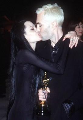 Image result for angelina jolie kissing james haven at oscars
