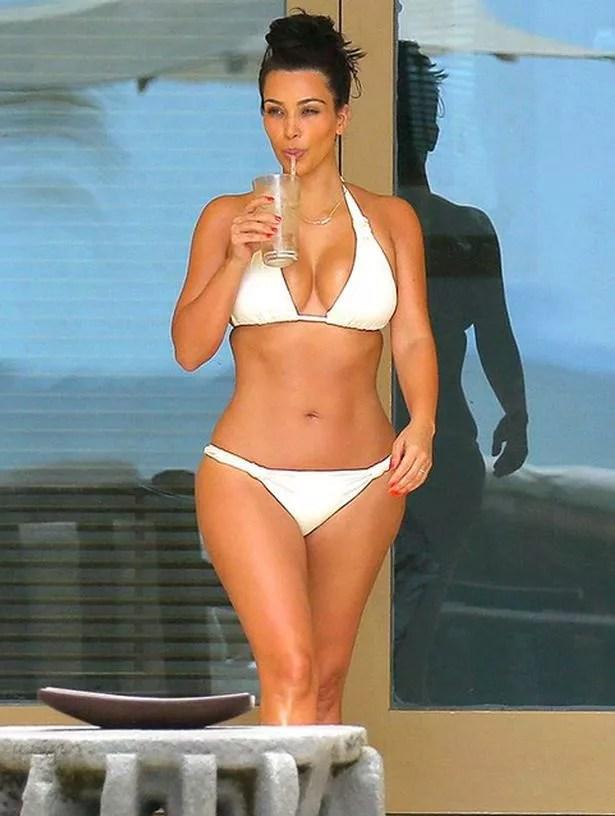 KimK In White Bikini