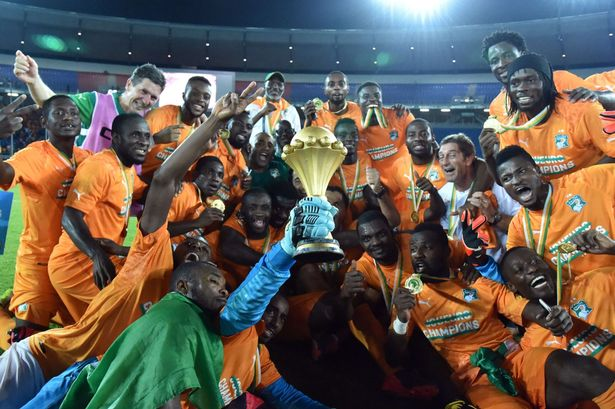 Image result for ivory coast national team win AFCON pictures