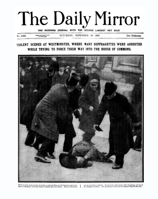 Image result for suffragette arrests newspaper