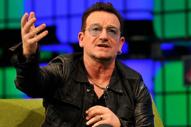 Bono from U2 speaking