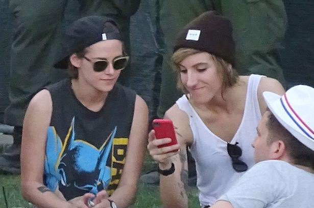 Kristen Stewart, and Alicia Cargile, attend Day 3 of the second weekend of The Coachella