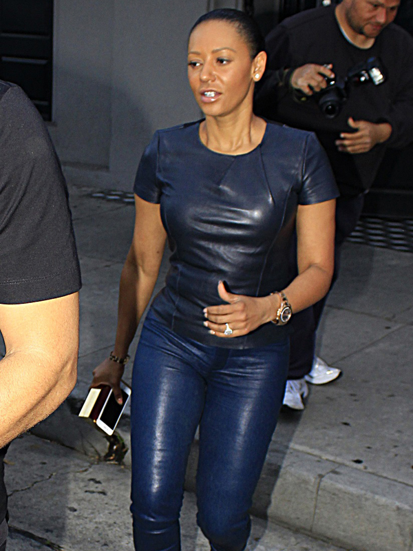 Mel B and her husband seen out for dinner in Beverly Hills