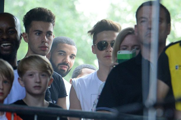 Brooklyn Beckham at Wireless day 3 with Drake