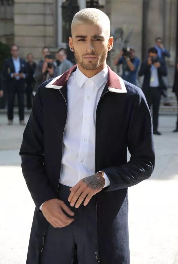 Zayn Malik arrives at men's Valentino fashion