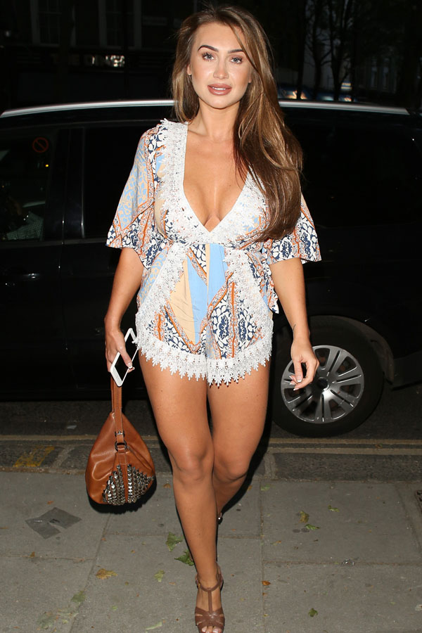 Lauren Goodger at the Heat Magazine offices