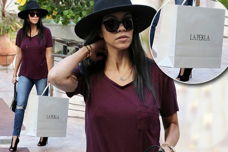 What's in the bag, Kourtney?
