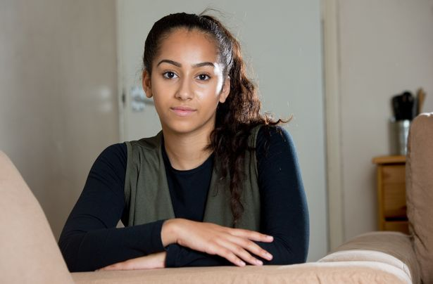 Niah Selway, aged 17 at her home in Hastings, Sussex
