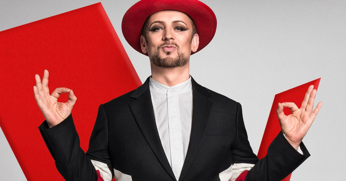 f1 racing chair lawn cushions on sale the voice's boy george nearly falls off his in embarrassing live tv gaffe - mirror online
