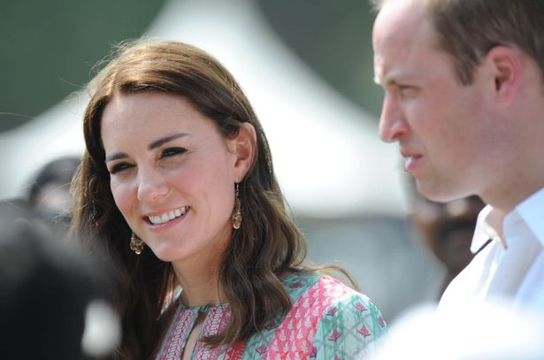 The Duchess of Cambridge wore Accessorize earrings for a visit to the Oval Maidan