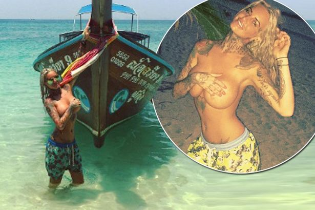 Jemma-Lucy-main 18+: Jemma Lucy strips topless on holiday in Thailand