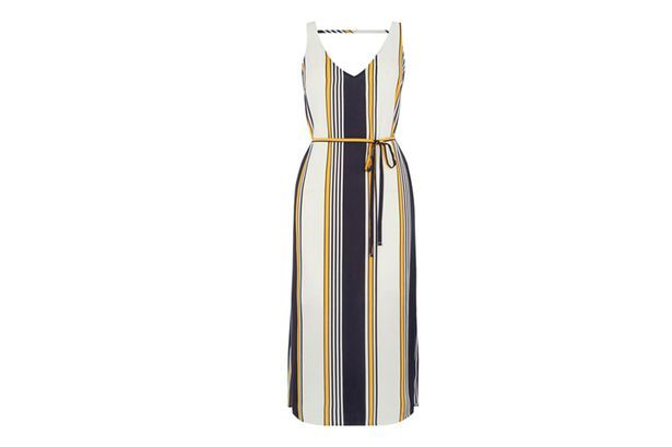 Oasis Stripe Midi Slip Dress