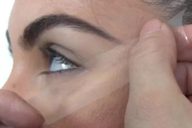 Kardashian eyes step 1