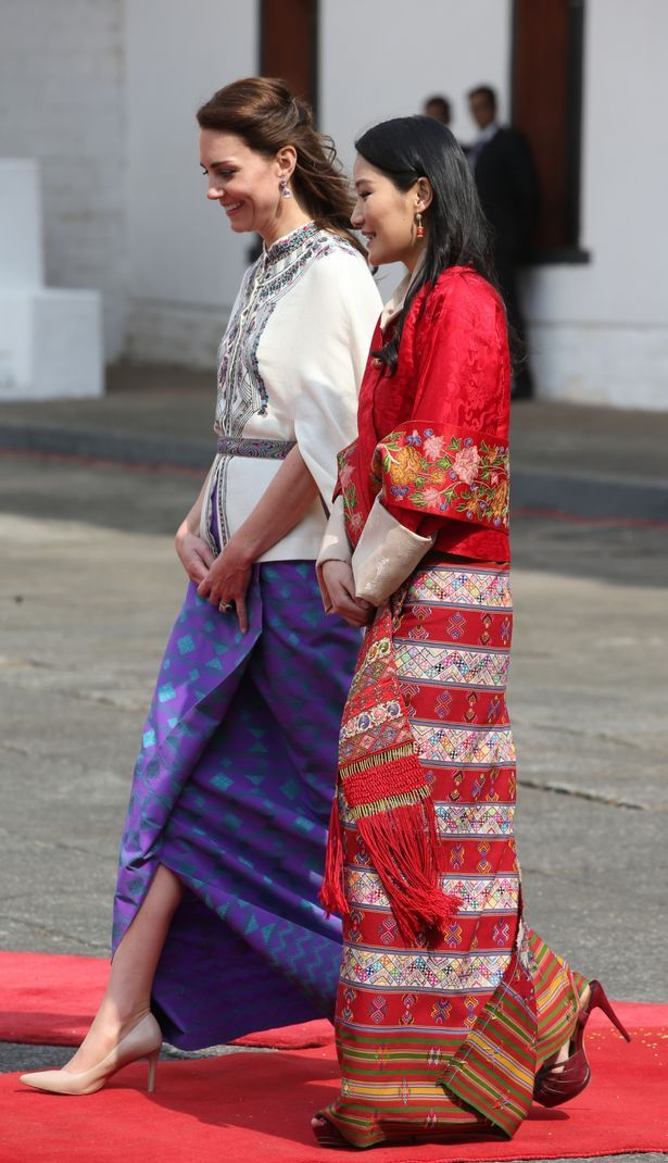 Kate walked with Queen Jetsun Pema