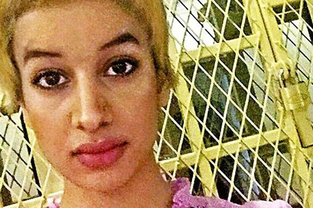The picture of Amina Al-Jeffery allegedly showing her locked in a cage