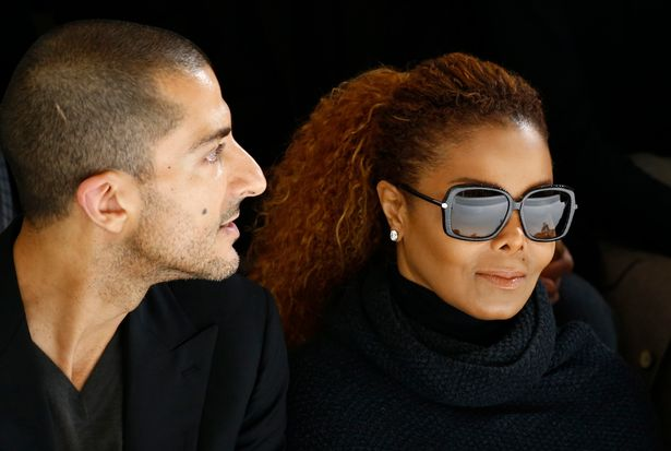 Artist Janet Jackson (C) and Wissam Al Mana (L) attend the Hermes Spring/Summer 2016