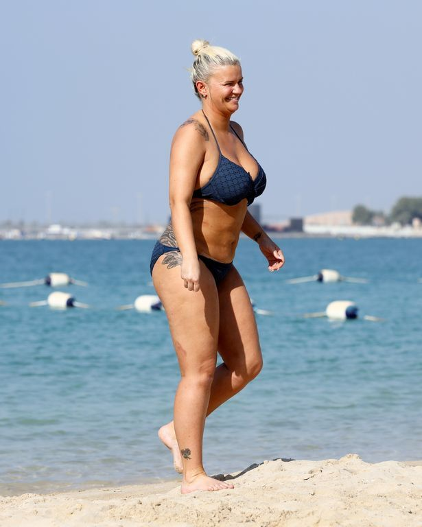 Kerry Katona unveils her new body after having £12000 worth of liposuction at the Belvedere Clinic in South London