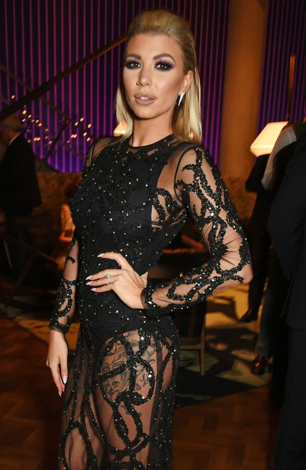 Olivia Buckland attends the National Television Awards cocktail reception at The O2 Arena on January 25, 2017