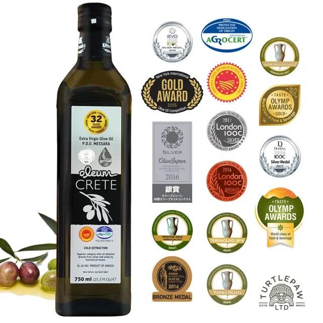 【希臘OLEUM CRETE】奧莉恩特級初榨橄欖油1瓶(750毫升)