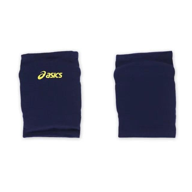 【ASICS】排球防撞短版泡棉護膝-巧固球 手球 一只入 亞瑟士 丈青黃(Z31405-5008)