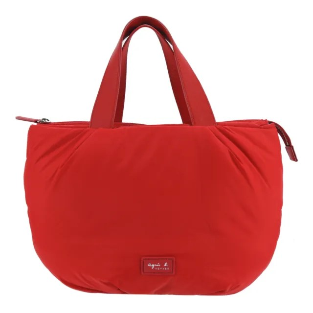 【agnes b.】橡膠LOGO空氣手提包(紅)