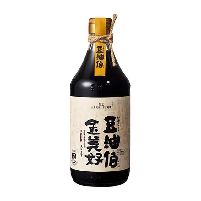 【豆油伯】金美好無添加糖醬油500ml(沾/拌 100%純釀造 滷/紅燒/醃漬)