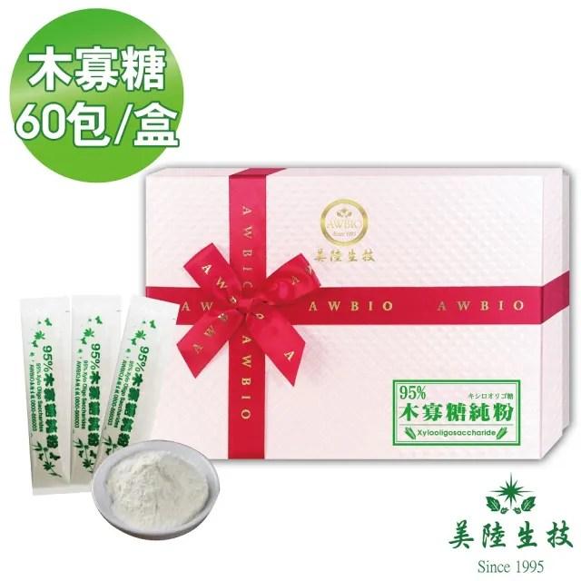 【美陸生技AWBIO】95%木寡糖純粉 益生菌(60包/盒)