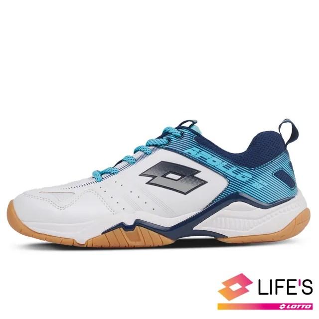 【LOTTO】運動鞋 兒童鞋  阿波羅 II 羽球鞋(白藍-LT0AKI2596)