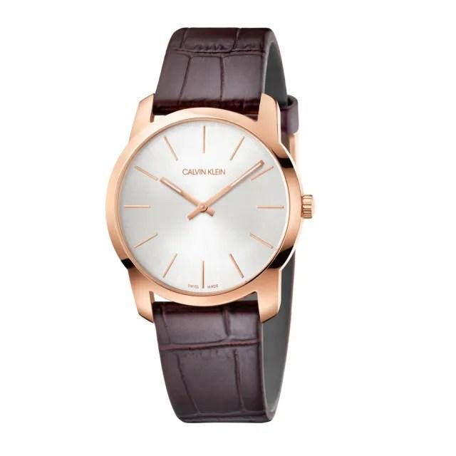 【Calvin Klein】CK簡約時尚皮帶腕錶37mm(K2G226G6)