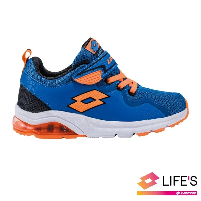 【LOTTO】運動鞋 兒童鞋  VIGOR RIDE 氣墊跑鞋(藍橘-LT9AKR0596)