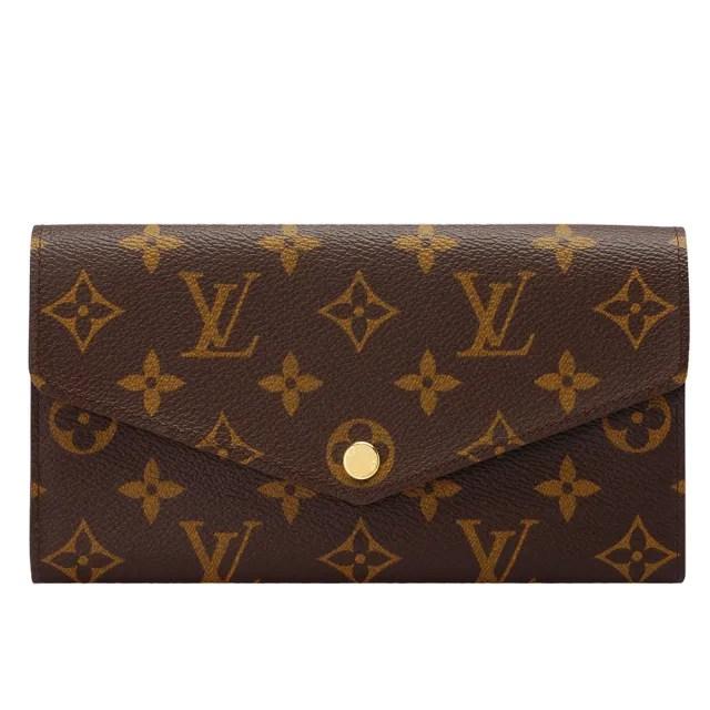 【Louis Vuitton 路易威登】M62235經典SARAH系列Monogram帆布印花暗釦長夾(芭蕾粉)